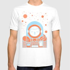Orange Space Mens Fitted Tee White MEDIUM