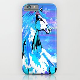 RIDE THE BLUE HORSE iPhone Case