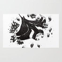 Manta ray Rug
