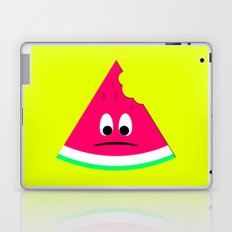 Cute sad bitten piece of watermelon Laptop & iPad Skin
