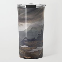 Stone valley | Fantasy landscape concept art Travel Mug