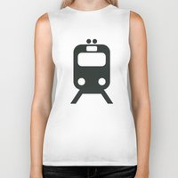 train Biker Tanks featuring Train by Alejandro Díaz