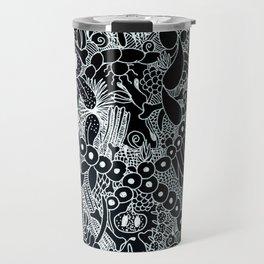 Wild Things Black and White Travel Mug