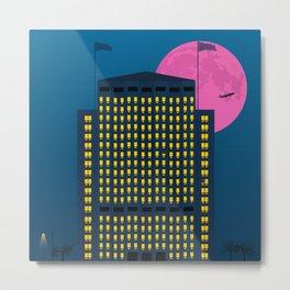 Shell Building by Night. London Metal Print