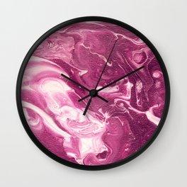 Plumb Swirl Wall Clock