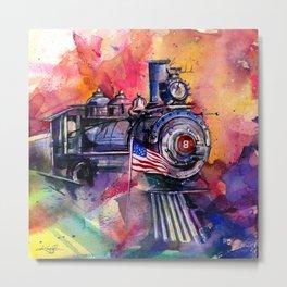 American Train by Kathy Morton Stanion Metal Print