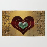 hearts Area & Throw Rugs featuring Hearts by nicky2342
