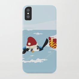 Smart penguin iPhone Case