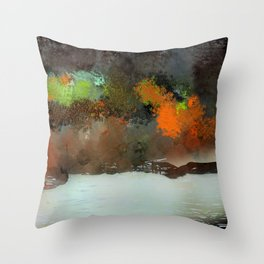 Trees and Reflections Throw Pillow