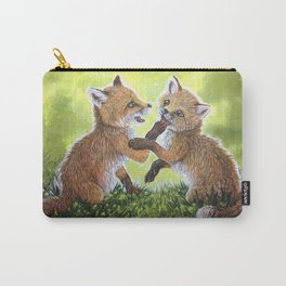 Fox Pups Carry-All Pouch