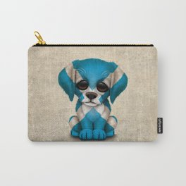 Cute Puppy Dog with flag of Scotland Carry-All Pouch