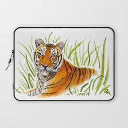 Zeus Tiger Bright Eyes Laptop Sleeve