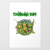 teenage mutant ninja turtles Art Prints featuring Teenage Mutant Ninja Turtles  by CaitlinNicole