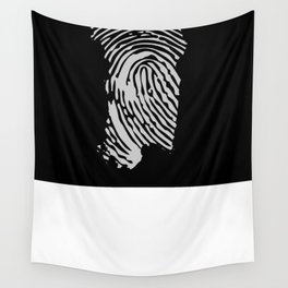 Sardinian fingerprint (black) Wall Tapestry