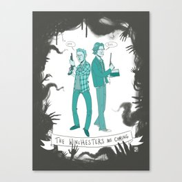 The Winchesters Are Coming - Supernatural Canvas Print