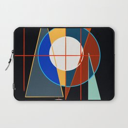 Black Geometric Abstract Composition Suprematist Laptop Sleeve