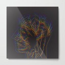 The illustration of human nervous system Metal Print
