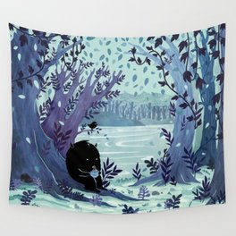 A Quiet Spot of Tea Wall Tapestry