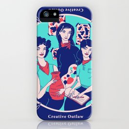 Women Artists (Creative Outlaws) iPhone Case