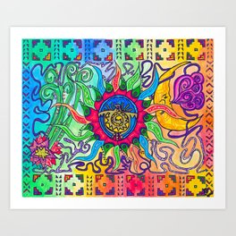 The Blazing Sun Art Print
