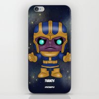 thanos iPhone & iPod Skins featuring Thanos Pop! by SpaceWaffle