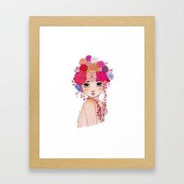 Cute Flower Girl Framed Art Print