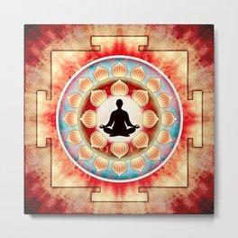 In Meditation - Yoga Lotos Metal Print