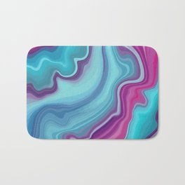 Purple and Teal Blue Agate Bath Mat