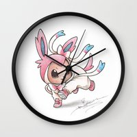 projectrocket Wall Clocks featuring Ribbons and Bows, Oh my! by Randy C
