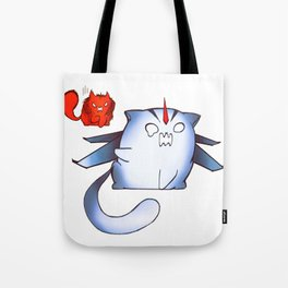 Starscream and Knockout dumpling cats Tote Bag