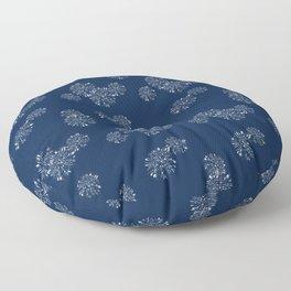 Shibori Scatter - Blue Floor Pillow