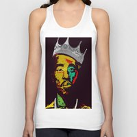 tupac Tank Tops featuring Tupac's Back by Dazed N Amused