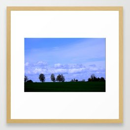 Blue Blue Sky... Framed Art Print