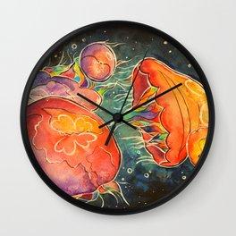 Moon Jellies Wall Clock