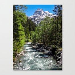 Hikes through Switzerland Canvas Print