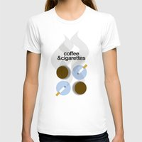 cigarettes T-shirts featuring Coffee and Cigarettes by justasign