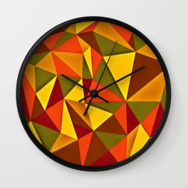 Triangulism Wall Clock