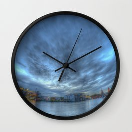 Spree blue hour Wall Clock