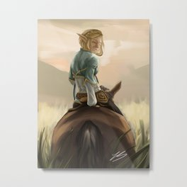Sunset Zelda Metal Print