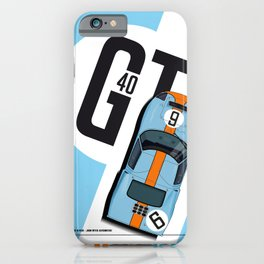 GT40 Ickx-Oliver Le Mans 1969 iPhone Case