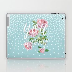 You are my happy- Roses Rose Flowers Polkadots - Vintage Design #Society6 Laptop & iPad Skin