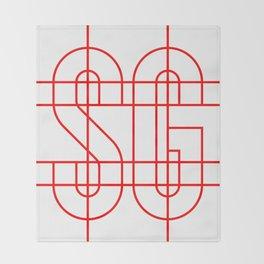 Studio Glmn (SG) logo Throw Blanket