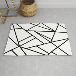 Classic Black White Geo #2 #geometric #decor #art #society6 Rug