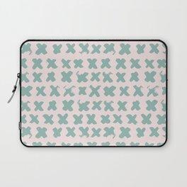 Contemporary X Paint Cross stich Pink Mint Pattern Laptop Sleeve