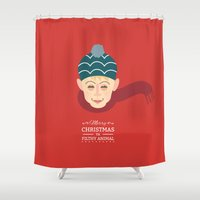kevin russ Shower Curtains featuring Home alone Kevin by Gary  Ralphs Illustrations