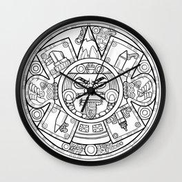Pencil Wars Shield Wall Clock