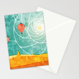 Bagan at sunrise Stationery Cards
