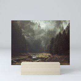 Foggy Forest Creek Mini Art Print