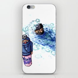 Ninja Stealthily Disappears into Bubble Bath iPhone Skin