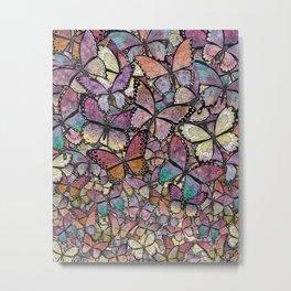 butterflies aflutter rosy pastels version Metal Print